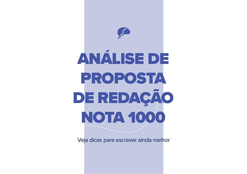 Análise de proposta de redação nota 1000