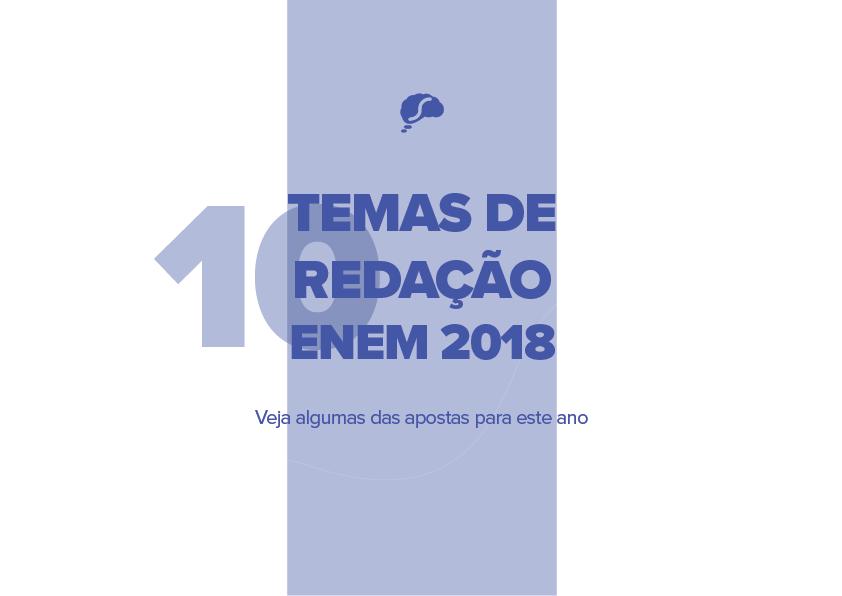 10 temas de redação do Enem 2018