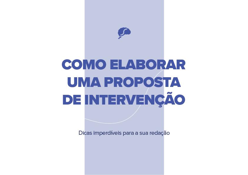 Como elaborar uma proposta de intervenção